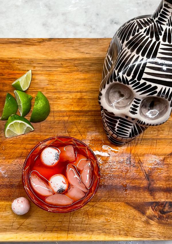 Terrifyingly Delicious Margarita. Bloody Halloween Margarita.