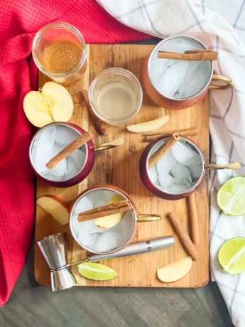 Refreshing Apple Cider Moscow Mule