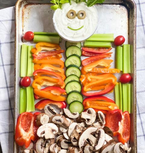 Halloween Skeleton Vegetable Tray